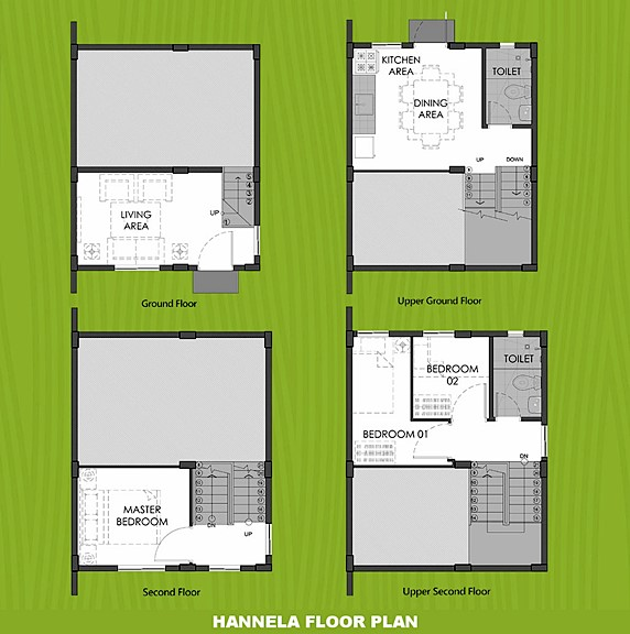 Hannela Floor Plan House and Lot in Bicol
