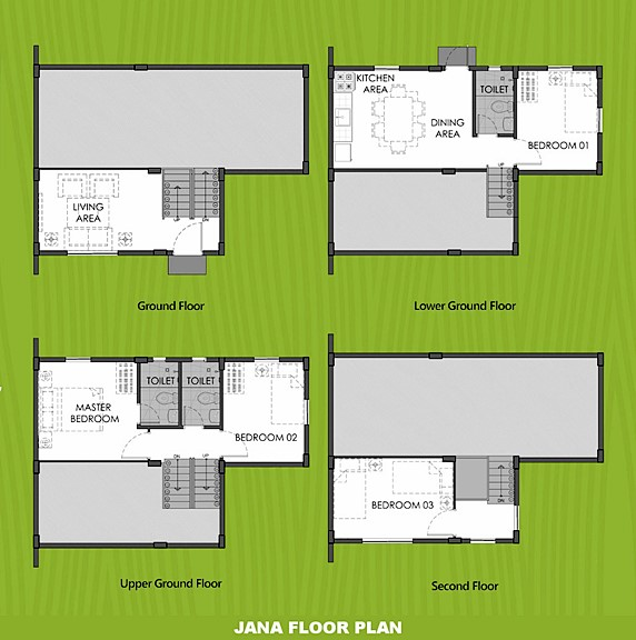 Janna Floor Plan House and Lot in Bicol