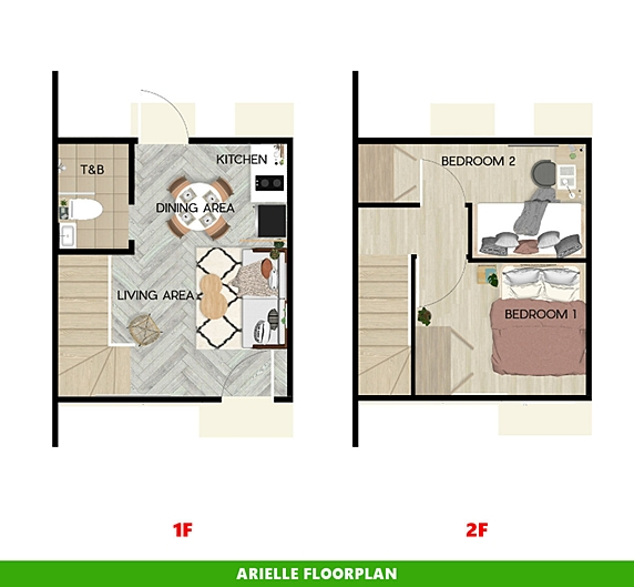 Arielle Floor Plan House and Lot in Bicol