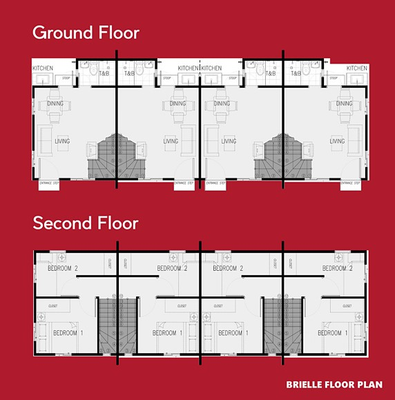 Brielle Floor Plan House and Lot in Bicol
