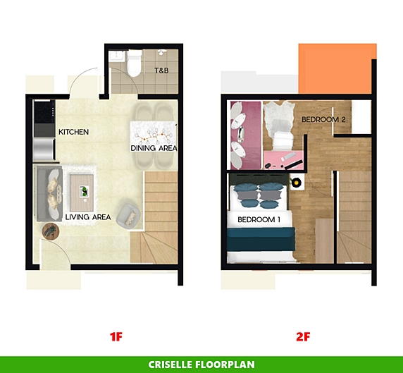 Criselle Floor Plan House and Lot in Bicol