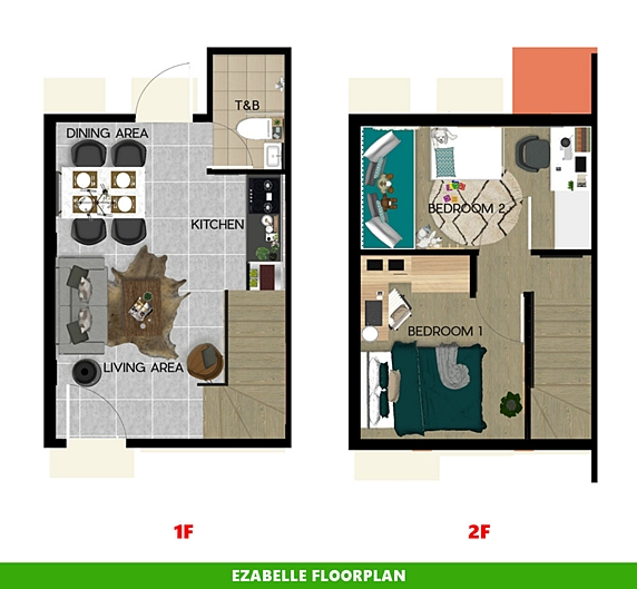Ezabelle Floor Plan House and Lot in Bicol