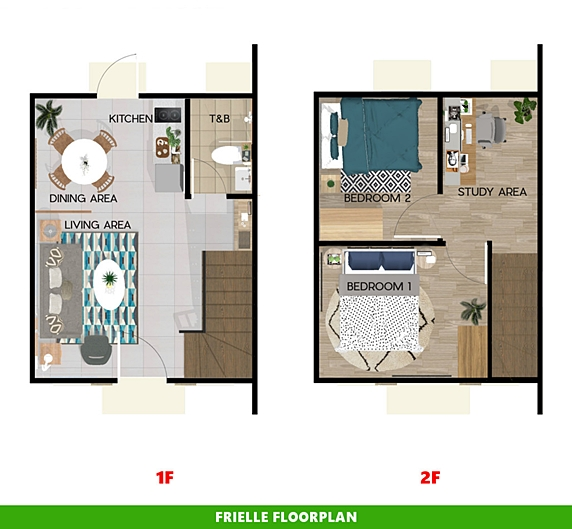Frielle Floor Plan House and Lot in Bicol