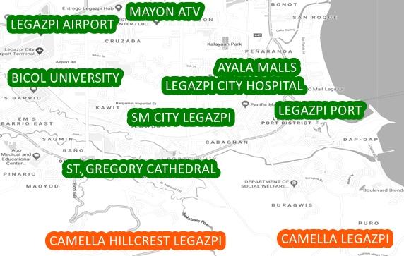 Bicol Property Vicinity Map